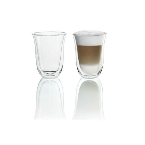 De'Longhi Bicchiere termico a doppia parete per latte macchiato, set da 2