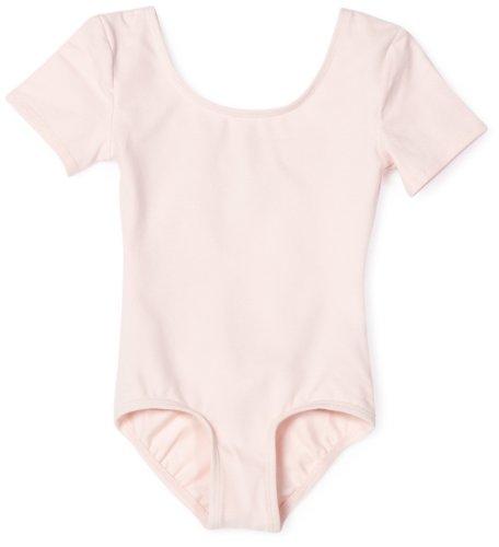 Danskin Girls' Short Sleeve Leotard,Theatrical Pink,Toddler(2T/4T)