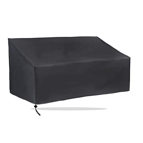 SAHWIN Fundas Muebles Jardin Banco Sillas, Cubierta Muebles Jardín Funda para Sillas 210D Oxford, Impermeable Anti-UV Anti-Viento E Anti-Polvo,2 Seats 134 x 66 x 89 cm