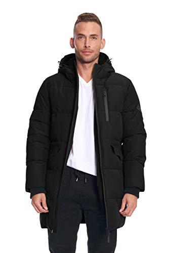 Alpine North Mens Vegan Down Winter Puffer Coat Black