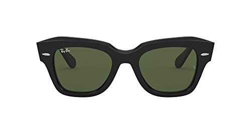 Ray-Ban State Street Lentes oscuros, Negro/Verde, 49 para Mujer