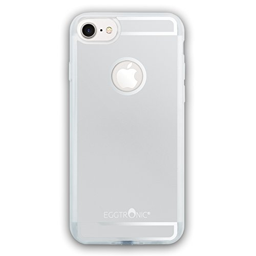 Eggtronic Qi Wireless Charging Case per iPhone 7 - Cover per Ricarica Wireless Qi (Silver - Argento)