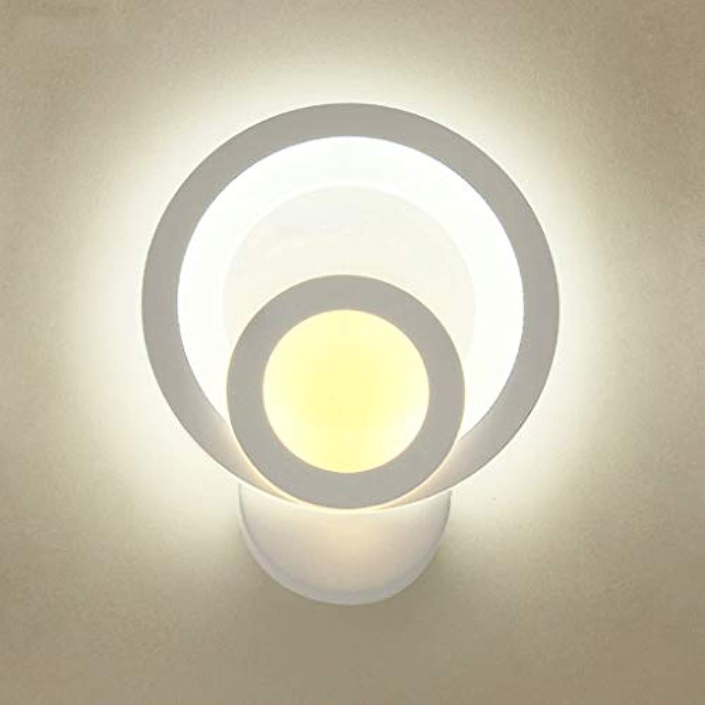 LED Acryl Wandleuchte Eisen Lampensockel Schlafzimmer Nachttischlampe Wohnzimmer Korridor Dekorative Nachtlicht (Farbe   Three-Farbe Light, gre   D)