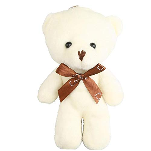 Lindo Oso de Peluche de Juguete para los niños Felpa Adorable muñeca del Oso de Peluche de Regalo Presente cumpleaños Llaveros
