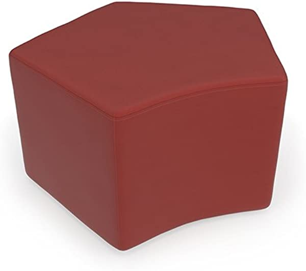 OFM Polyurethane Wooden Stool In Red