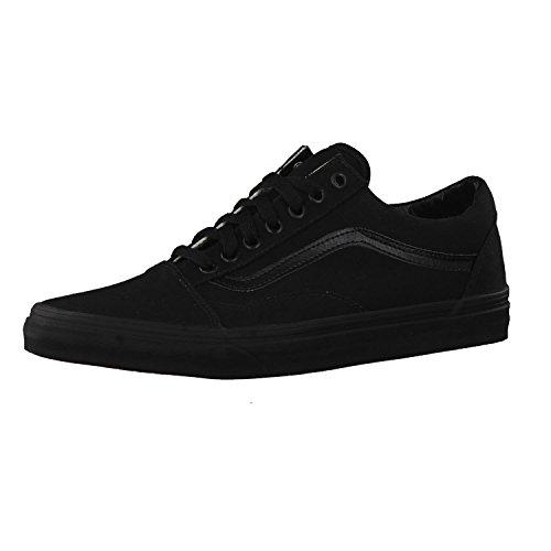 Vans Old Skool, Zapatillas de lona unisex, Negro (Black/Black Canvas), 39 EU