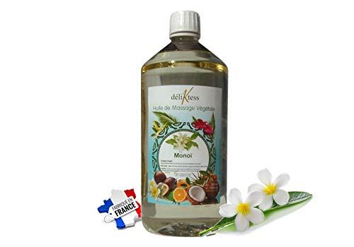 déliktess® - Huile de massage végétale - 15 parfums au choix- 200ml ou 1 litre - Naturelle et fabriquée en France - pour modelage professionnel (Monoï)