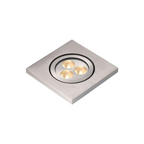 Lucide ELSON - Spot Encastrable Extérieur - LED - 3x1W 4300K - IP54 - Chrome Dépoli