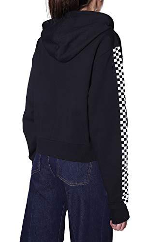 Vans Funnier Times Crop Zip Hoodie Sudadera con Capucha, BLACK, SG para Mujer