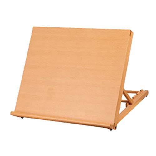 freneci Caballete de mesa de escritorio de madera de ajuste de altura, tablero de dibujo de madera de haya de calidad tablero de dibujo de caballete de - 30x27x22cm