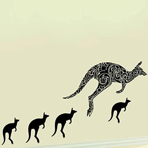 Rjjrr Arte De Canguro Animales Pegatina De Pared / Pegatinas De Pared Calcomanías De Pared Sala De Estar Dormitorio Tv Sofá Decoración De Fondo Calcomanías De Pared Mural Habitación De Los Ni?Os