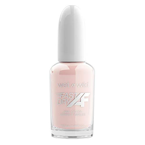 Wet n Wild Fast Dry AF Nail Color, Long-Lasting Nail Polish, Lovey Dove-y (White)
