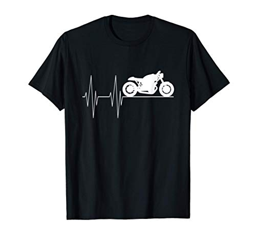 Motorrad Herzschlag Männer & Herren Tuning Garage T-Shirt