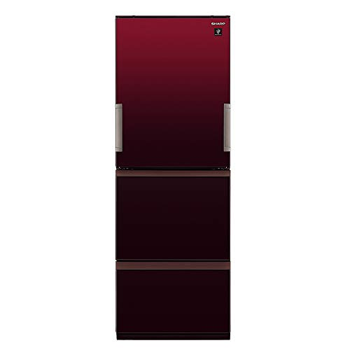 シャープSHARPプラズマクラスター冷蔵庫(幅60.0cm)350L3ドア(両開き・どっちもドア)グラデーションレッドSJ-GW35F-R