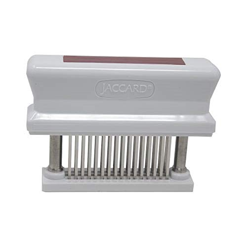 Jaccard 200348R 48-Blade, HACCP Color Coded Meat Tenderizer, 1.50 x 4.00 x 5.75 Inches, Tan – Pork, Red – Beef