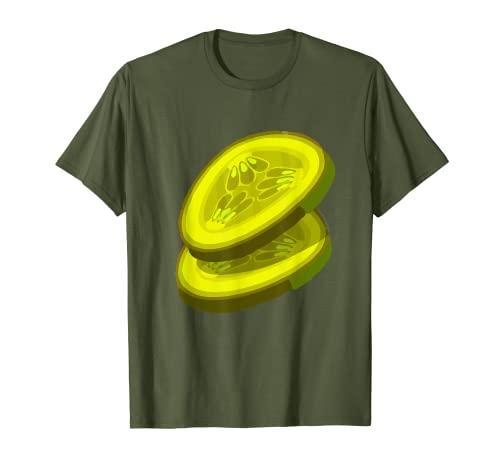 Pepinos Hamburguesa Disfraz Pepino Verdura a juego Hamburguesa Camiseta