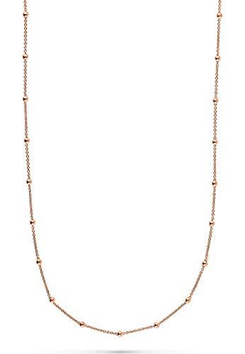 JETTE Silver Damen-Kette Lucky Charm 925er Silber One Size Roségold 32010381