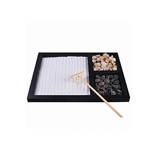 Oyria Mini Zen - Mesa de Arena para jardín, decoración de paisajes, Mesa de Arena de meditación psicologica