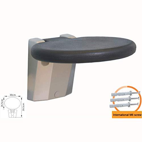 AGWa An der Wand befestigte Duschsitze, zusammenklappbare Duschsitzbefestigung Robuste Aluminiumlegierungsbasis und PU-Schaumplatte, die sich gegen die Wand falten lassen, sparen Platz Produktnutzung