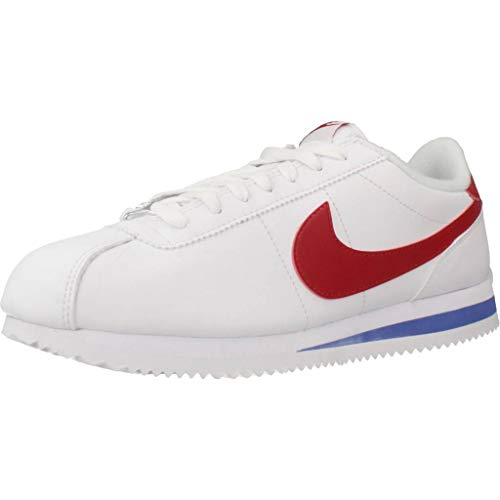 Nike Herren Cortez Basic Leather Laufschuhe, Weiß (White/Varsity Red/Varsity Royal 103), 43 EU