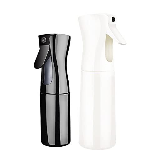 PACK DE 2 Bouteilles d'eau à pulvérisation continue, vaporisateur de brume pour les cheveux, bouteille de laque pour les cheveux, bouteille de vaporisateur de brume à gâchette sans aérosol, pour le