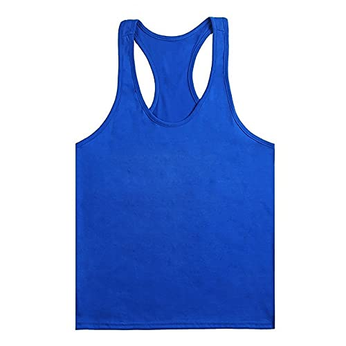 pamkyaemi Tank Top Herren,Sportshirt Freizeit T-Shirts Bodybuilding U-Hals Training Top Atmungsaktiv und schnelltrocknend Muscle Shirt Top für Sport und Fitness
