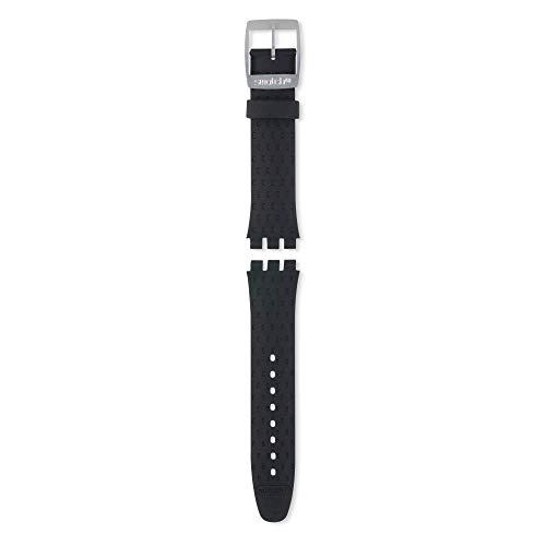 Swatch cinturino orologio Irony Chrono WILDLY silicone nero ACYCS4024