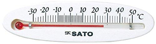佐藤計量器(SATO) 温度計 冷蔵庫用 ミニ 横型 -30~50度 ホワイト