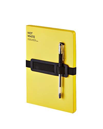 Nuuna Not White L Light Yellow Notizbuch mit farbigen Seiten A5
