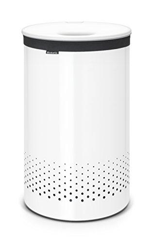 Brabantia 105142 Wäschebox 60 L Kunststoffdeckel, weiß