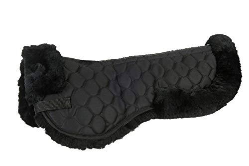 HKM Echt-Lammfell-Sattelkissen XL, schwarz