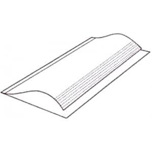 """5 Pack 12"""" x 26"""" Brodart Just-A-Fold III Archival Book Covers - Adjustable, Clear Mylar"""