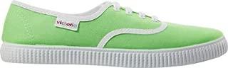Victoria Women's Inglesa Fluor Delave Canvas Lace-Up Sneaker, Verde, 8 M US