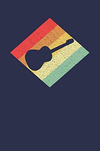 Gitarristen Notizbuch: A5 Kariert 108 Seiten - Retro Vintage Akustikgitarre Notizheft - Geschenk für Gitarristen