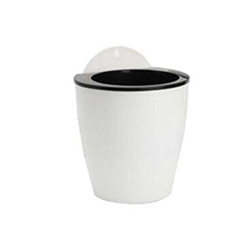 Kicode attachmenttou Coupe d'aspiration créative Coupe d'eau Pot de Fleurs Plantes Pots Mur d'intérieur Suspendu Jardinière à f