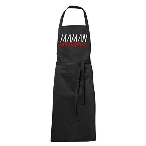 stylx design Tablier humoristique de cuisine noir MAMAN ACCOMPLIE