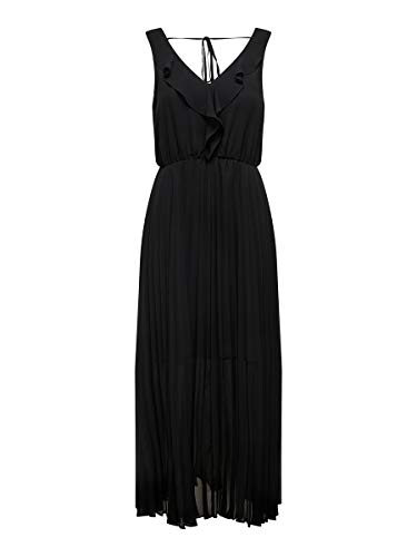 ONLY Damen Maxikleid Rüschen 36Black