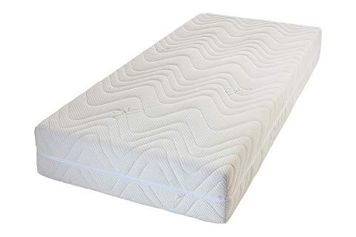 Wolkenkind® 7-Zonen Taschenfederkernmatratze LARGOVITAL, Härtegrad H3 Mittelfest, Höhe ca.25 cm, 80 x 200, Silverline Bezug waschbar bis 60 Grad, Oeko-TEX®