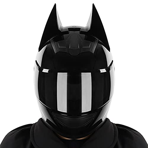 SACKDERTY Full Face Helmet Lightweight, DOT Approved Sports Motocross Helmets, Impact Resistance Ventilation Motorcycle Helmets, Tinted Visor