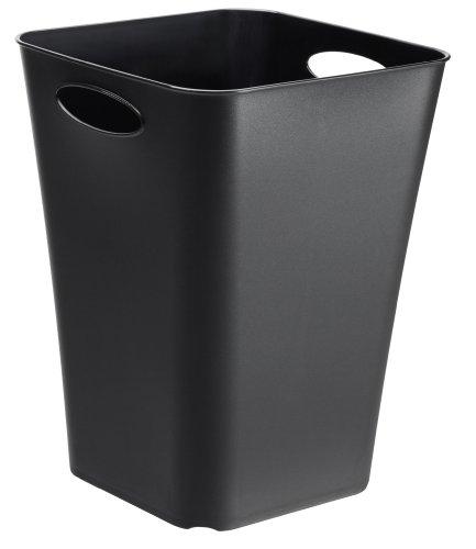 Rotho Living Aufbewahrungsbox, Kunststoff (PP), schwarz, 23 l (29,5 x 29,5 x 39,5 cm)