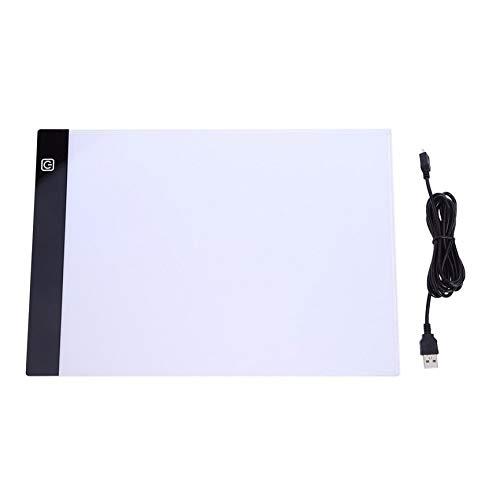 Peanutaod Ultradünne LED-Zeichenblock-Tablet-Zeichenblock-Box-Board LED-Zeichenbrett USB-A4-Kopierstation