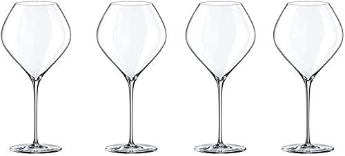 ZRDSZWZ Copas de vino de cristal fiables transparentes de vino tinto grandes copas exquisitas aptas para lavaplatos, aptas para uso en casa de 860 ml (tamaño: 4)