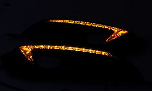 OULONDUN AUTO LIGHT FOR BUICK REGAL OPEL INSIGNIA 2013 2014 2015 LED daytime running light with yellow turn signal light function YELLOW WHITE