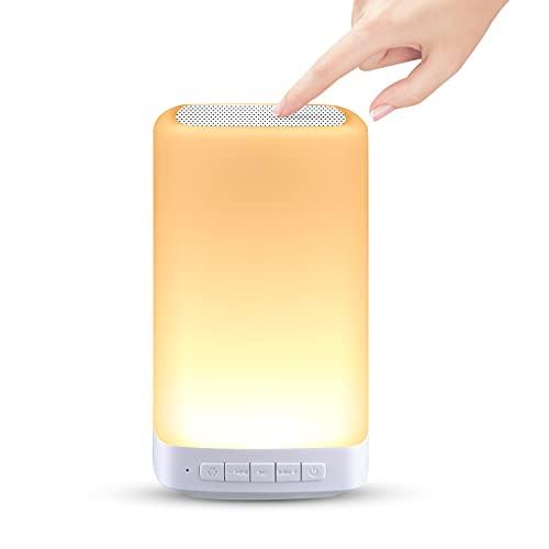 LED Nachttischlampe Touch Dimmbar, unibelin LED Nachtlicht mit 3 Warmlichteffekt Dimmmodi und 7 Farben zum Umschalten,USB Aufladbar Tragbare Nachtlampe Schlafzimmer Tischleuchte für Schlafzimmer, Büro