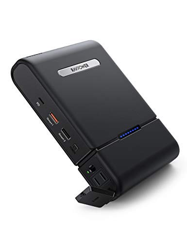 RAVPower ポータブル電源 モバイルバッテリー 予備電源 ⼤容量 30000mAh 100W AC出力 PD 60W USB-Cポート+USB-Aポート ノートパソコン/MacBook/iPhone/Android等対応 停電時 緊急時バックアップ用/キャンプ/車中泊/アウトドア/防災グッズ