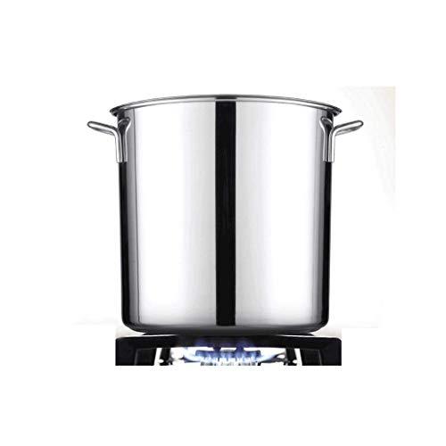 JXLBB Barril de acero inoxidable Barril engrosado Barril de sopa de acero inoxidable con tapa Pote de sopa grande Barril de aceite Cubo de uso doméstico Barril de arroz multiusos Cubeta colgante Tapa
