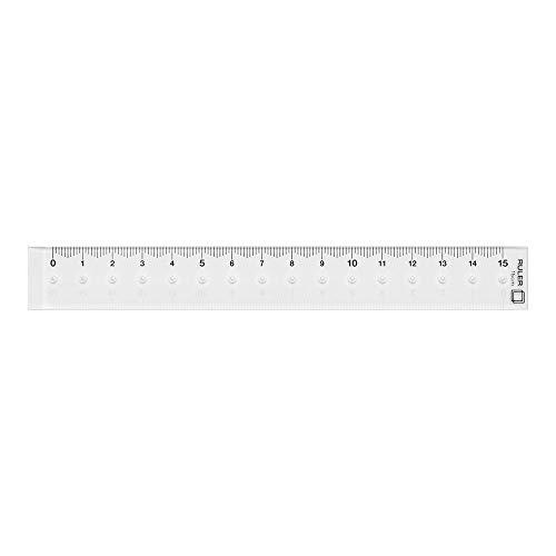 ミドリ 定規 15cm 透明 42231006