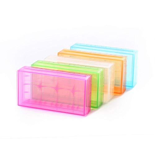 FEIYI Otro módulo de la placa 18650 x 2 Sot plástico de la batería de la cubierta de la batería de repuesto del portador de la caja de almacenamiento CR123A 16340 R123A 17670 4x Celda 18350 contenedor
