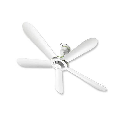 Zhenwo - Ventilador de techo de la hélice con 5 alas y mando a distancia al alcance de la mano, color blanco