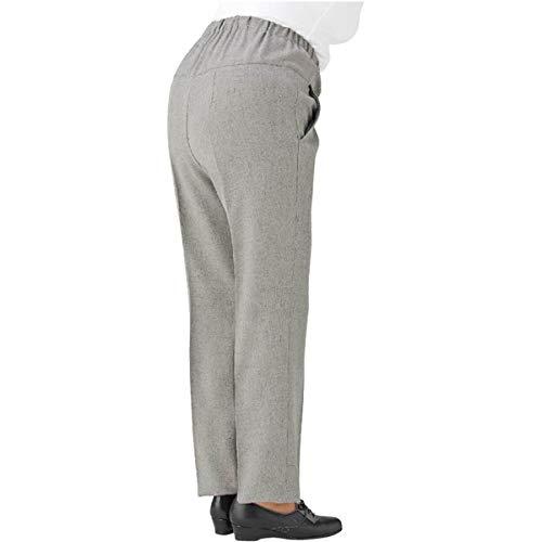 ケアファッション 婦人ストレッチCラインパンツ グレー M 39265-01